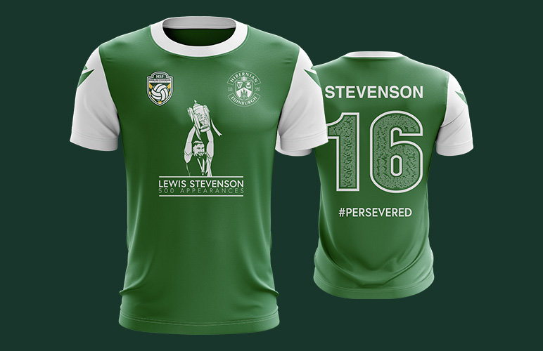 HSF Launch Limited Edition shirt to commemorate Lewis Stevenson's 500 appearances