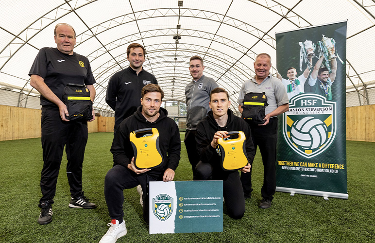DEFIBRILLATOR BOOST FOR LOCAL CLUBS